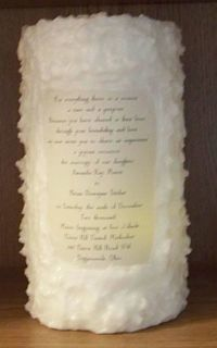 Wedding Candle with invitation
